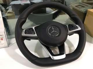 Mercedes benz AMG Steering Wheel flat bottom