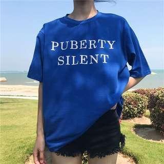 🚚 (已售出)顯白的藍色💙 t恤 上衣