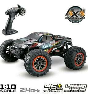 9125 1/10 Scale 2.4GHz Off-road Truck Four-wheel Drive High-speed RC Car - Red / EU Plug #JAN50