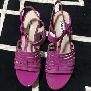 Clarks Pink Heels