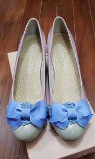 粉紅色 漆皮 女裝 半吋高踭鞋