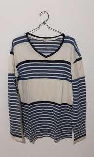 Tshirt Stripe Lengan Panjang