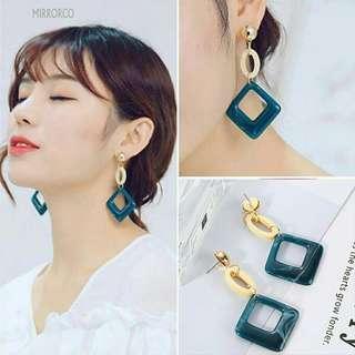 <In Stock> Korean Style Vintage Rhombus Earrings