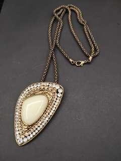 Vintage long metal necklace