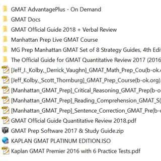GMAT Preparation Package