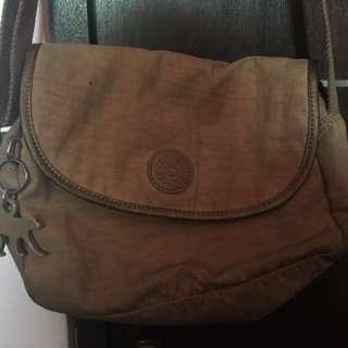 Authentic Kippling Brown Sling Bag