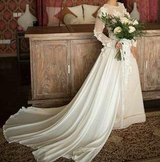 Gaun wedding broken white sangat cantik!