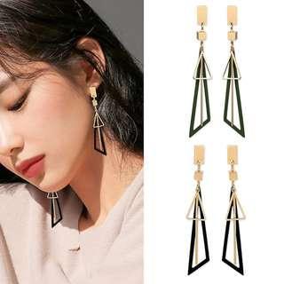 ╭✿蕾兒0509✿╮DB041-韓國耳飾從容百搭幾何不規則耳環耳釘耳針飾品首飾流蘇耳環