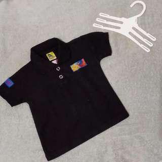 Baju polo Valentino Rossi hitam // baju kerah anak