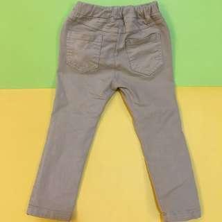(二手出清)韓國熱銷童裝正韓GAB 抓破款色褲_5 卡其 窄管休閒褲 童褲
