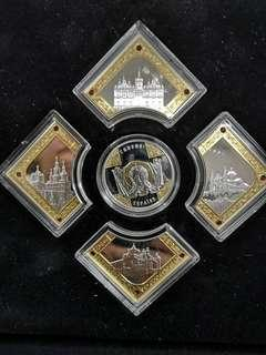 Russia silver proof coin collection