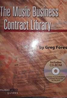 Book with CD- The Music Business Contract Library
