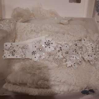 Dijual wedding belt baju pengantin full swaroski
