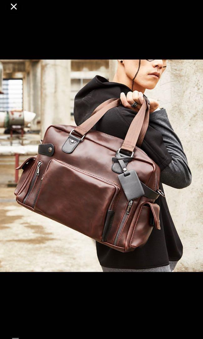 a1b43289f4fc Akita Mens Duffel Laptop Bag Brown, Men's Fashion, Bags & Wallets ...