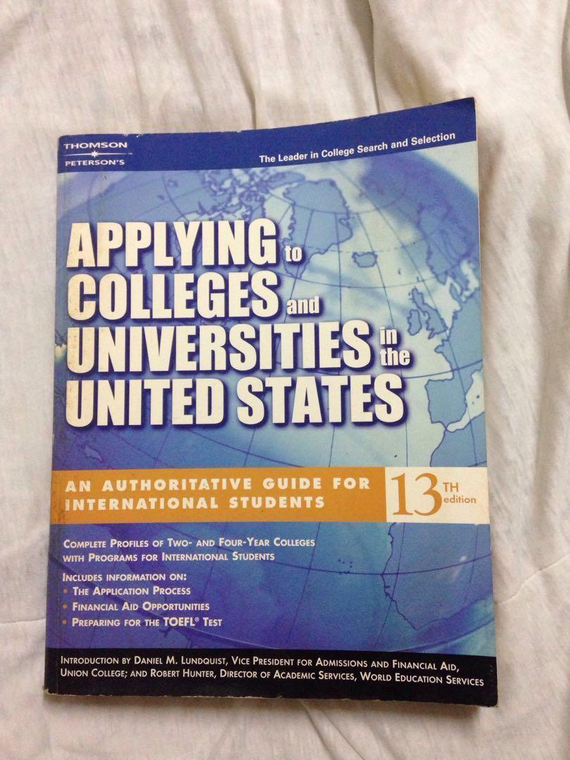 Applying to Colleges and Universities in the United States - Guide Book for International Students