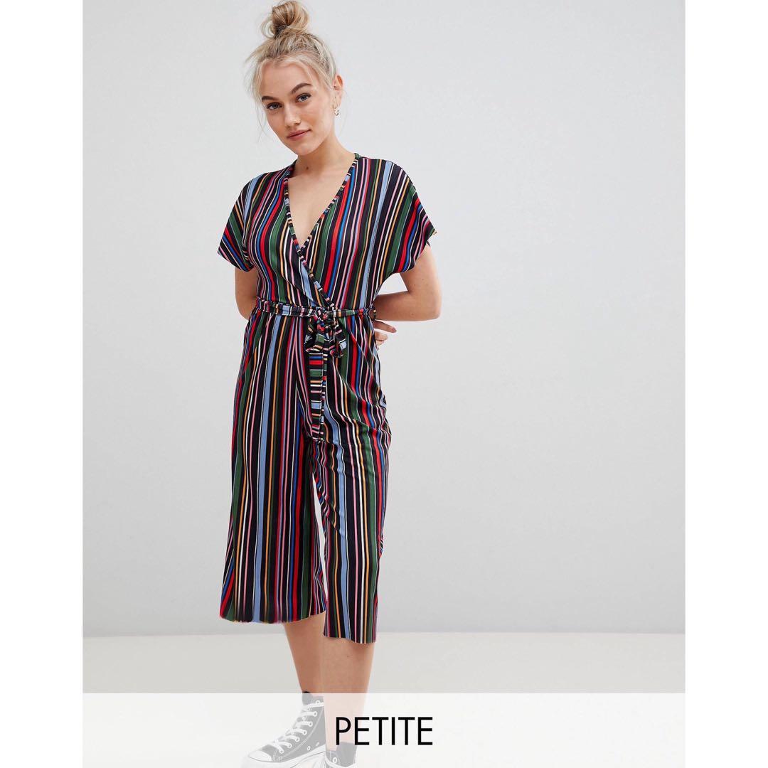ad36ba033e6 ASOS Newlook Petite Jumpsuit Stripes