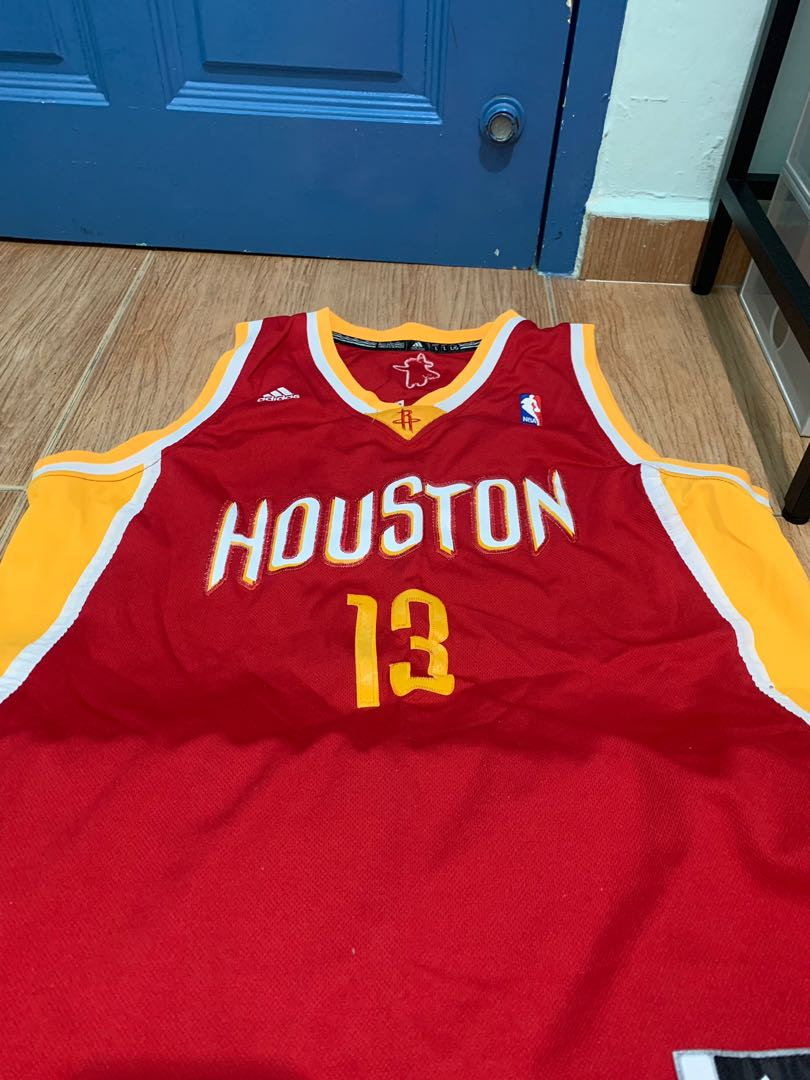newest 7049a 50056 Authentic Adidas James Harden Houston Rocket Jersey Large on ...