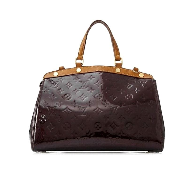 fbe40ee43476 Authentic Louis Vuitton Brea MM Vernis Bag - Amarante