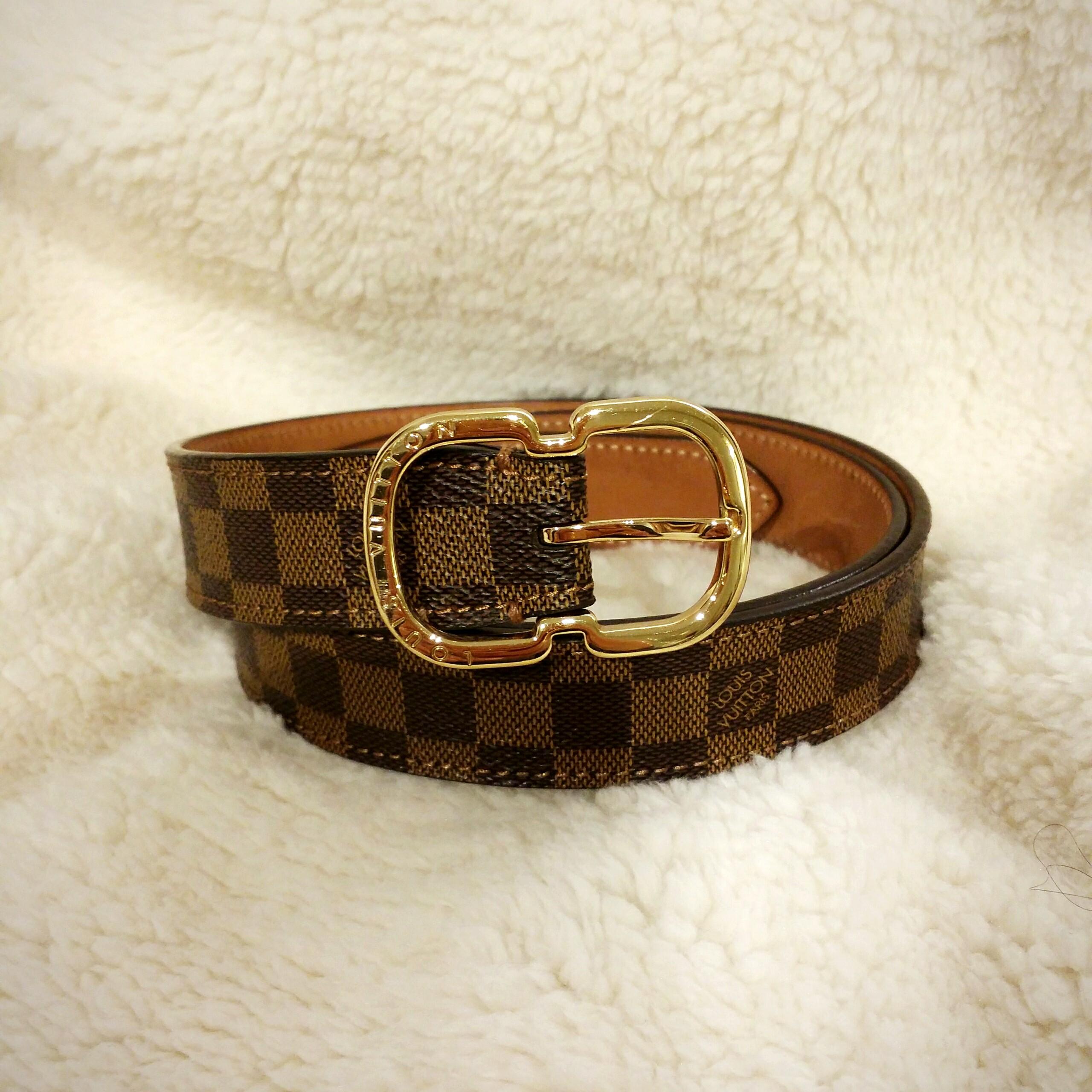 4cdaaec591bd Authentic Louis Vuitton Mini 25mm Belt
