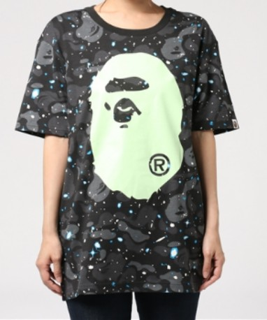 Bape(Ladies) Space Camo Ape Head Tee 7e3254105d