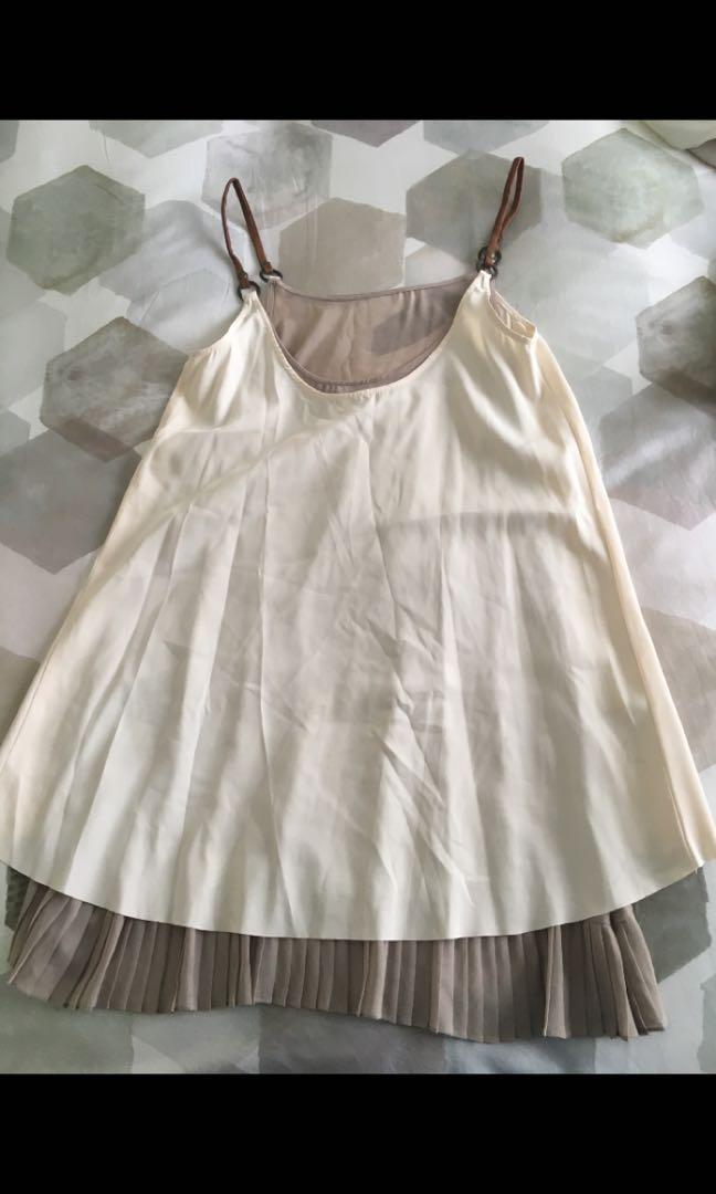 Blessed are the meek white and grey overlay swing dress