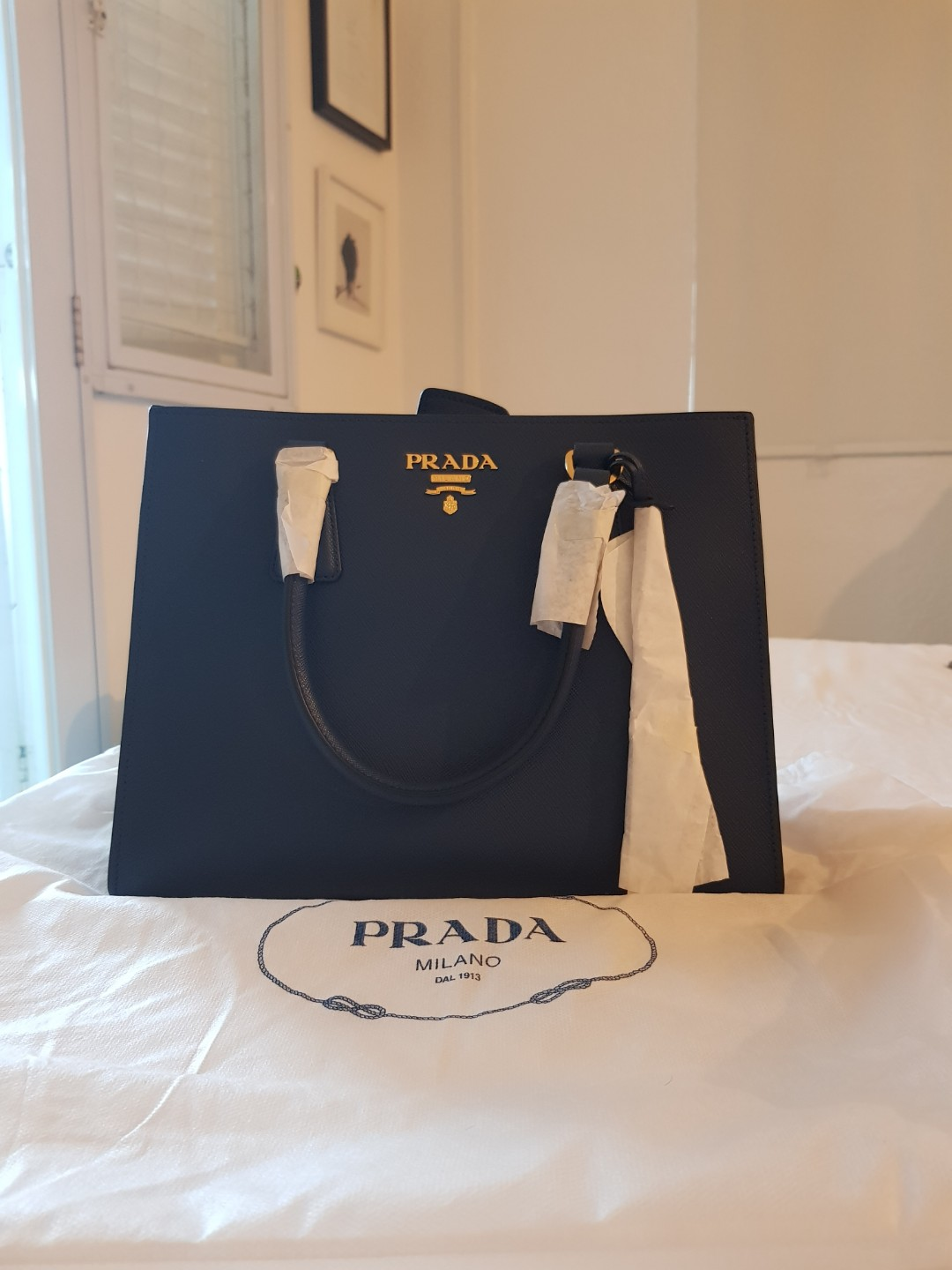 0a305d31ca87 BRAND NEW Prada Saffiano Small Leather Tote Bag, Luxury, Bags ...
