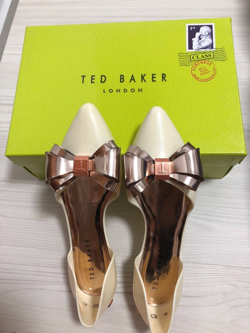 073449aa4 Brand new TED BAKER cream white jelly shoes