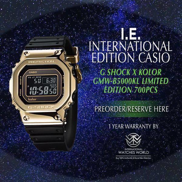 16d393d80b7 CASIO INTERNATIONAL EDITION G SHOCK METAL SERIES X KOLOR GMW-B5000KL ...