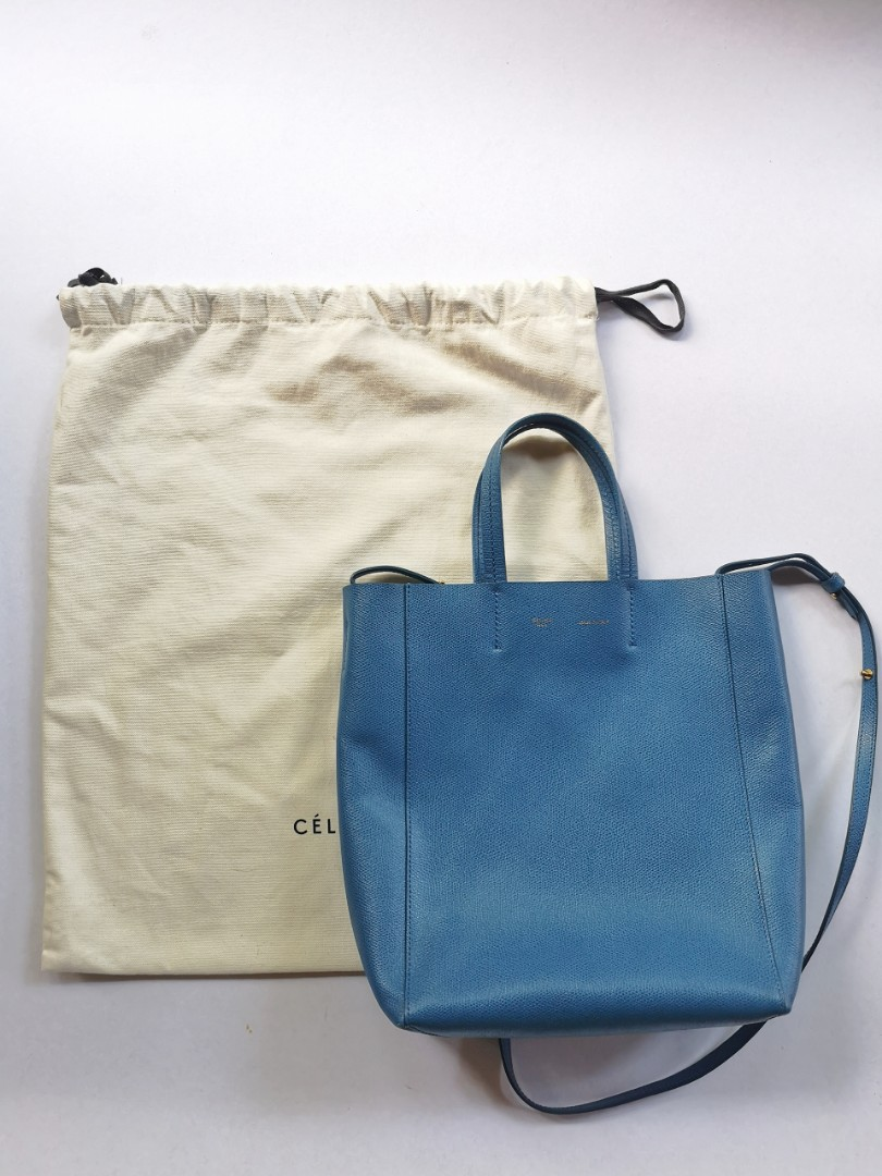 e017a66e34 Celine blue cabas vertical tote bag
