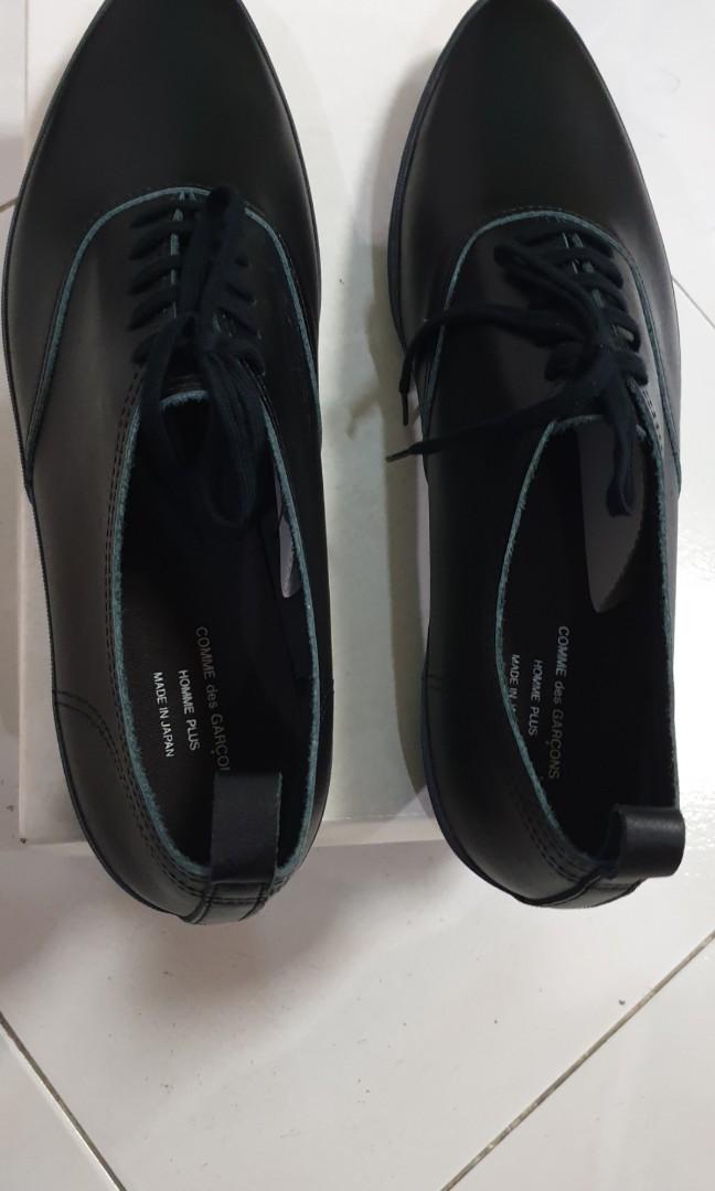 8d76b257fb6f Final sale Comme Des Garcons Homme Plus black leather shoes