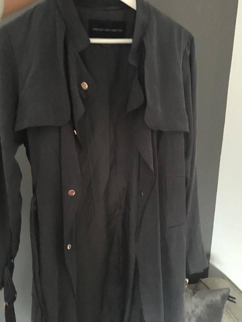 French connection women's trench - size 6