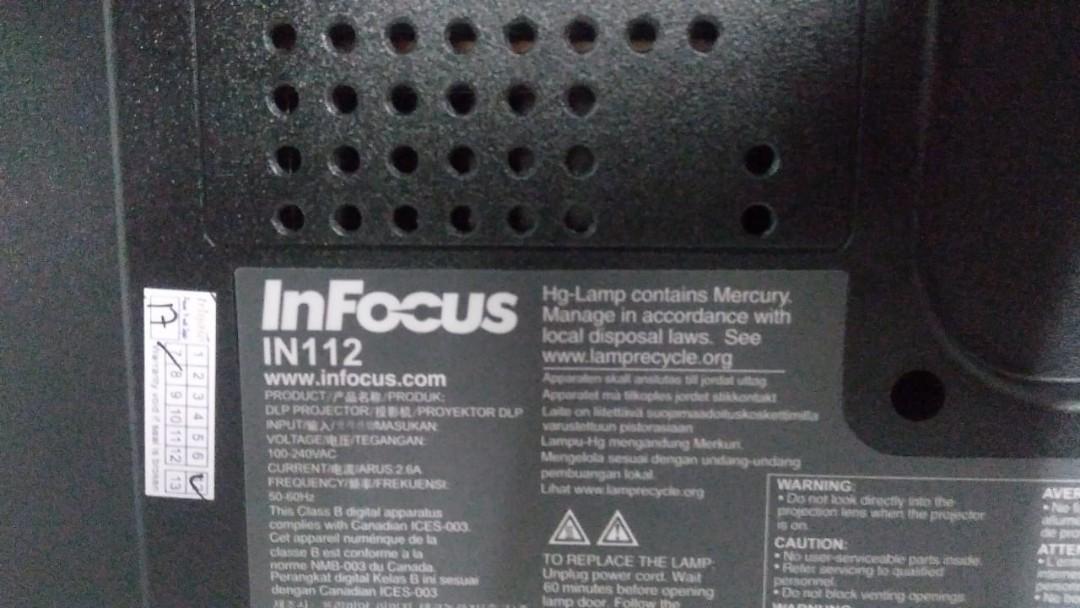 InFocus projector in112 Brite cam document camera visualizer vs501d