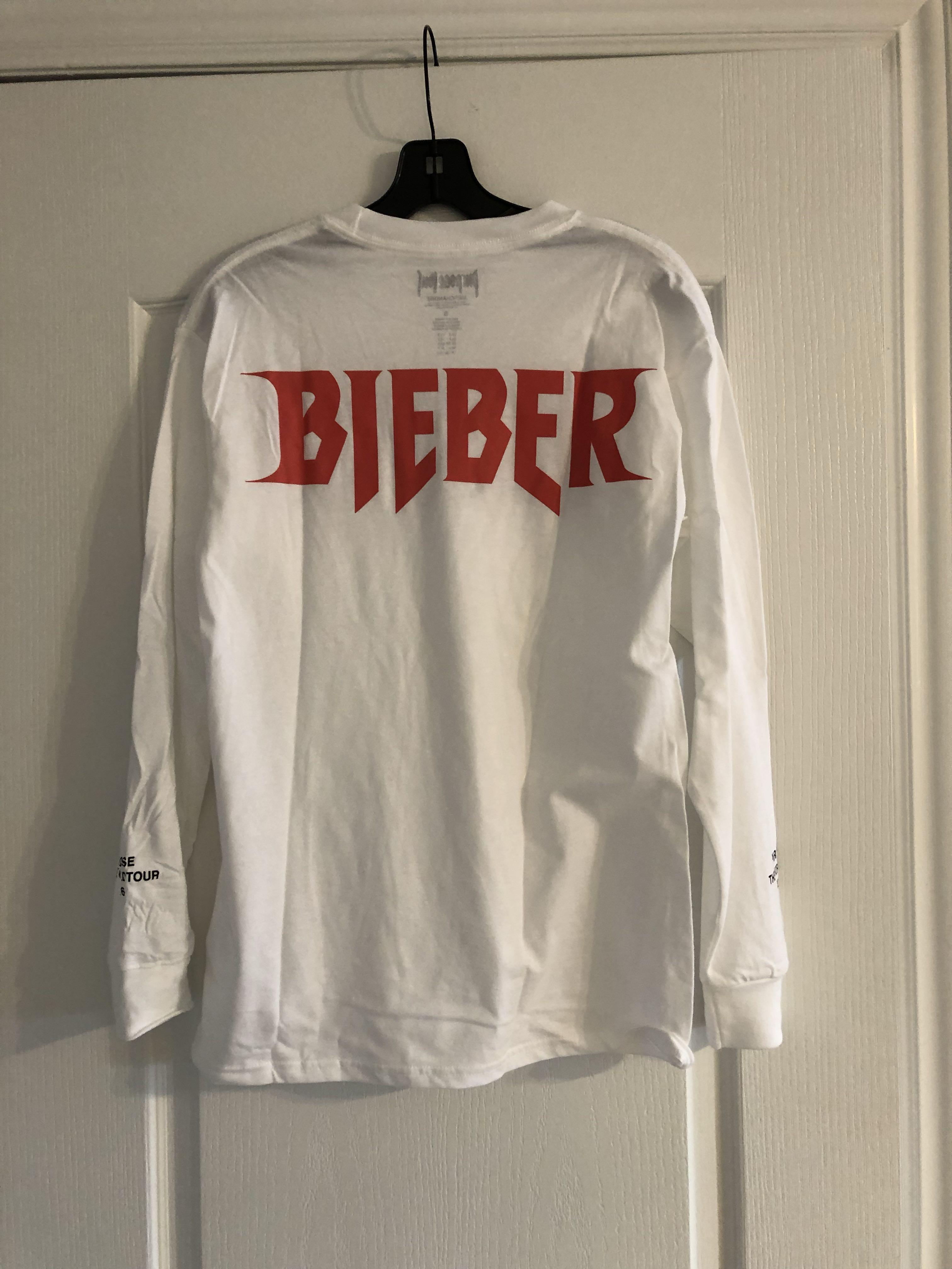 Justin Bieber Purpose Tour Merch Long sleeve size small