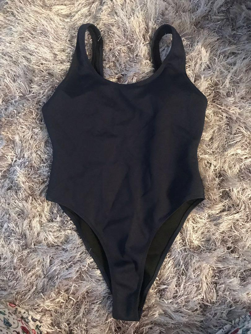 Kendall & Kylie Swimsuit Navy One Piece - Size Small