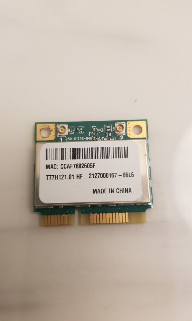 Laptop wireless card (Atheros AR5B95), Electronics, Computer