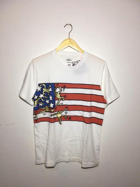 #onlinesale Men SPRZ NY (Keith Haring) Graphic T-Shirt