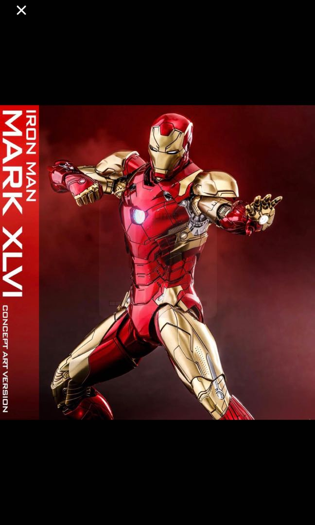 Misb Hot Toys Concept Art Mark 46 Iron Man The 1st 10 Years