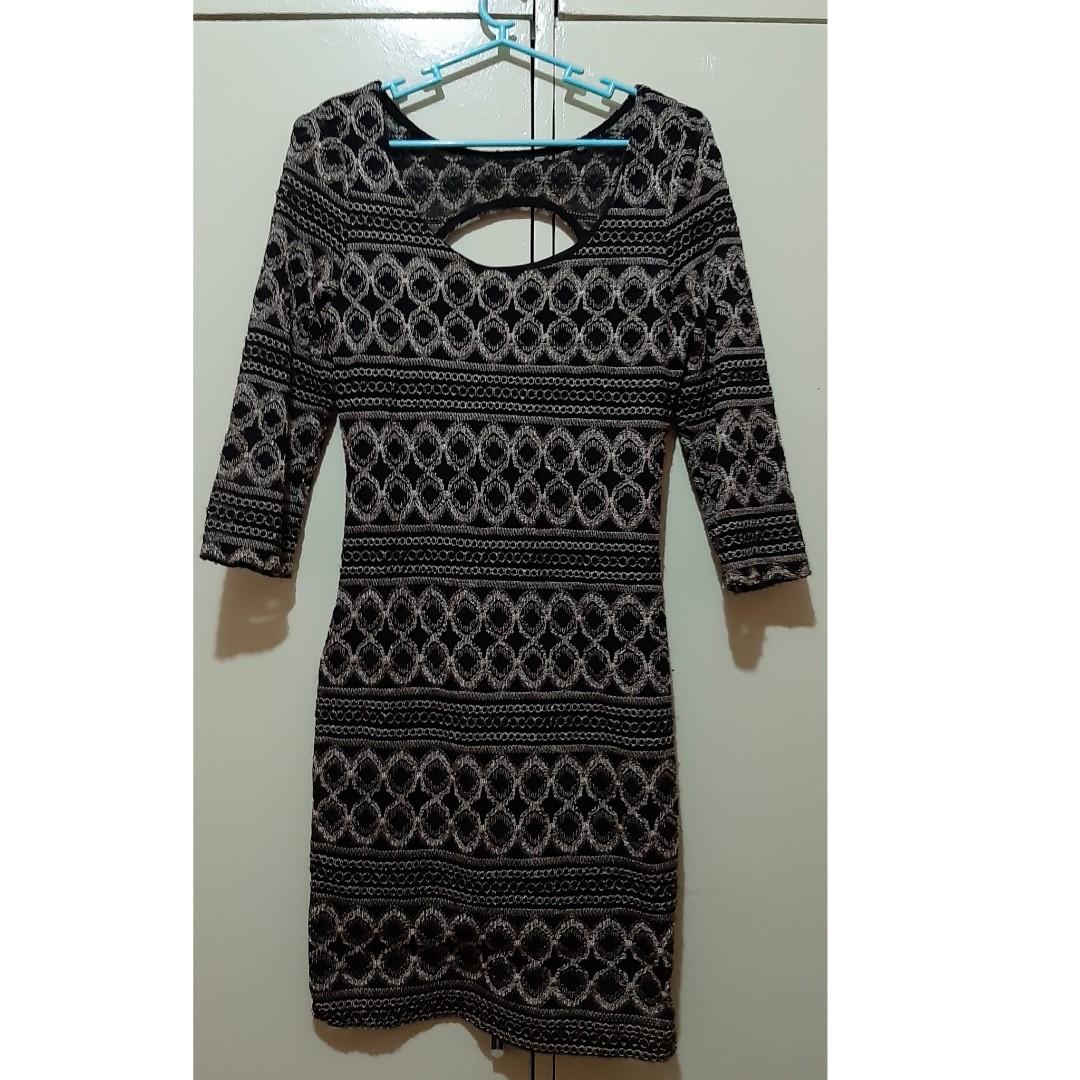 69b00883af8e0 Missy brown-black dress