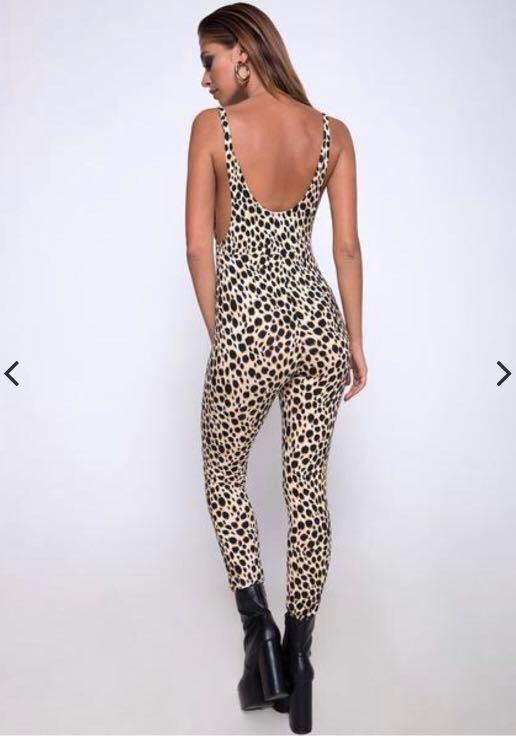 Motel rocks cheetah unitard