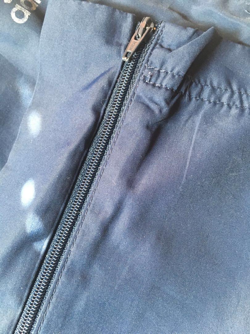 Navy blue adidas track pants