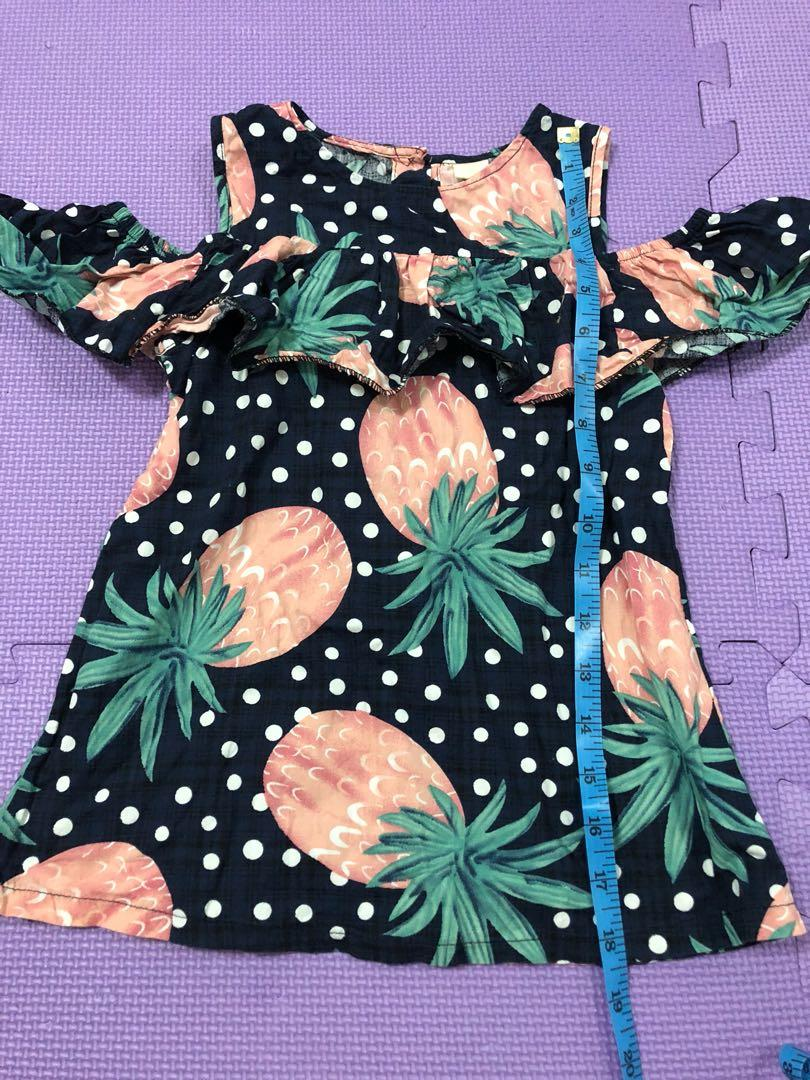 Navy Blue Dress with Pink Pineapples