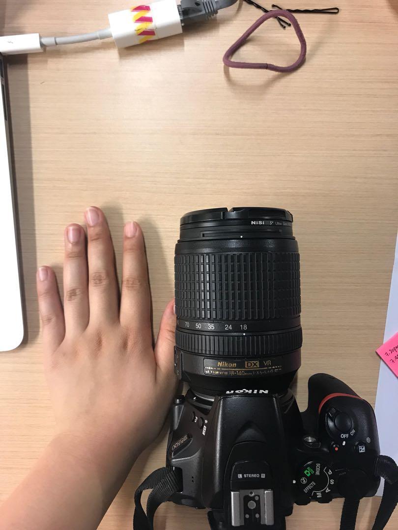 Nikon D5500 body + 18-180mm f3.5-5.6 lens