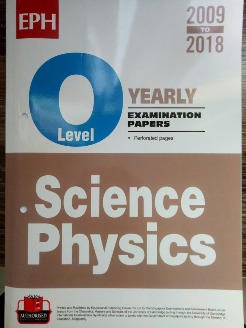 O level Science Physics Ten Year series 2009 - 2018, Books