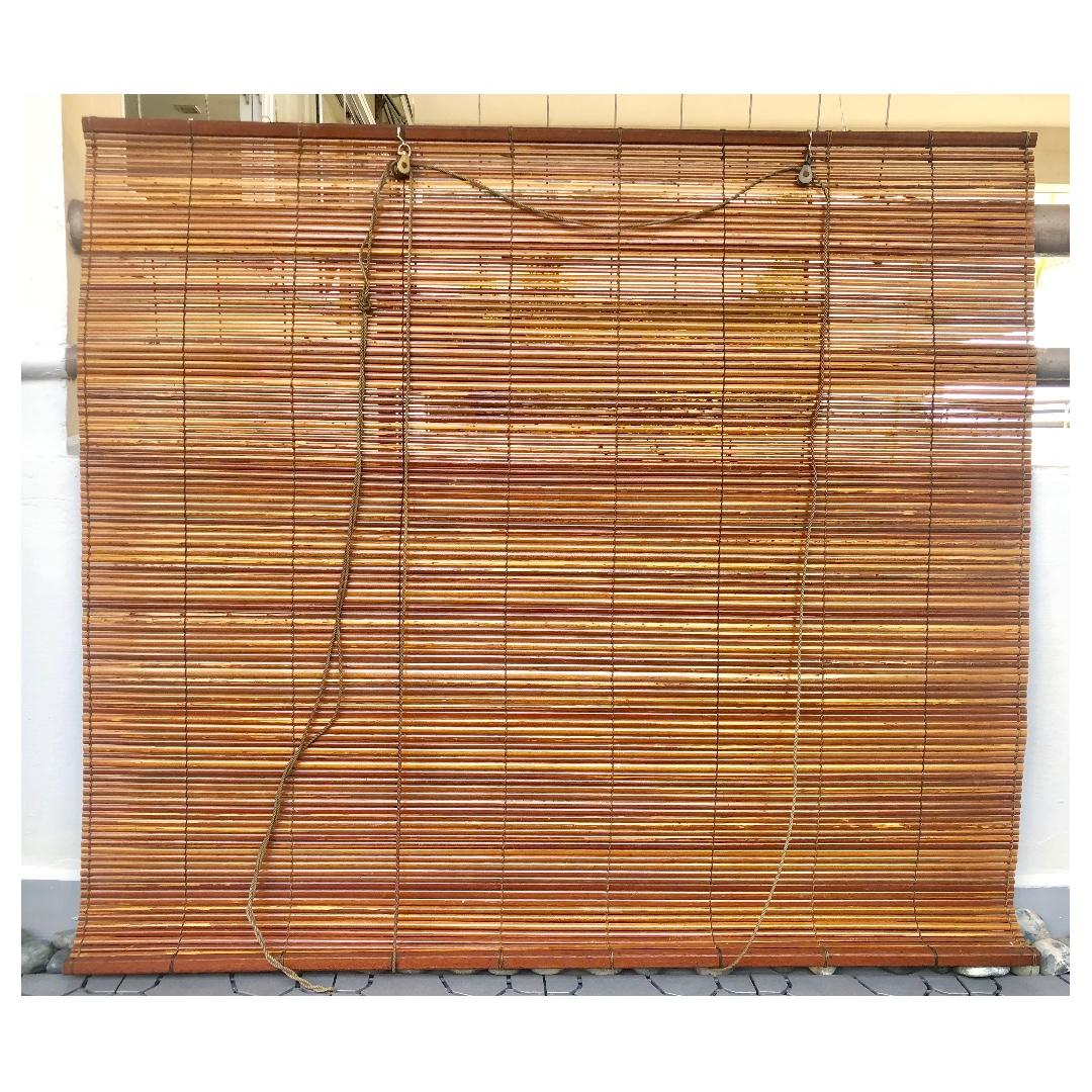 OUTDOOR BAMBOO BLINDS one left , Furniture, Home Decor