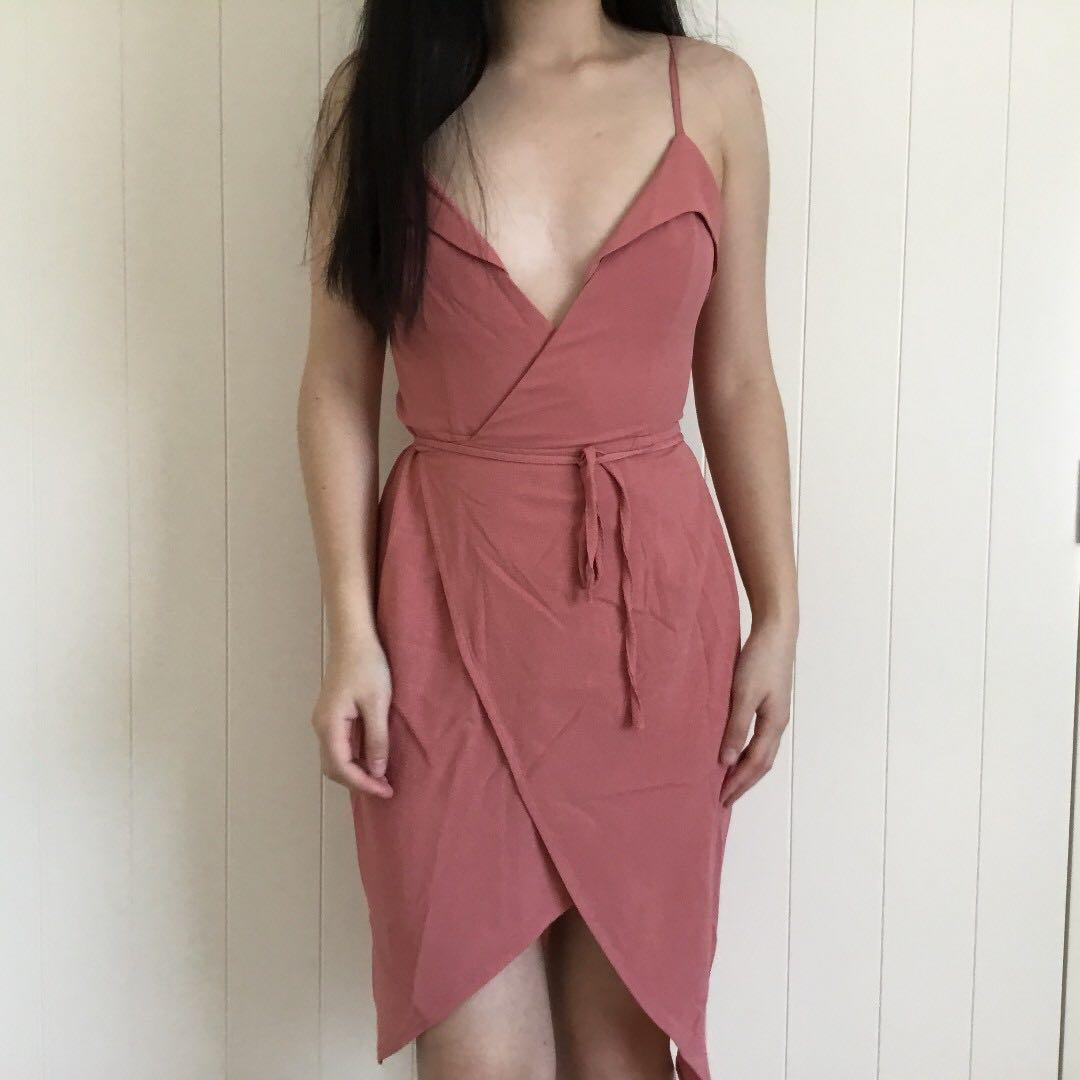 Pink/Mauve Wrap Dress