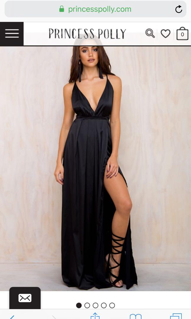 Princess Polly Black Ball Dress