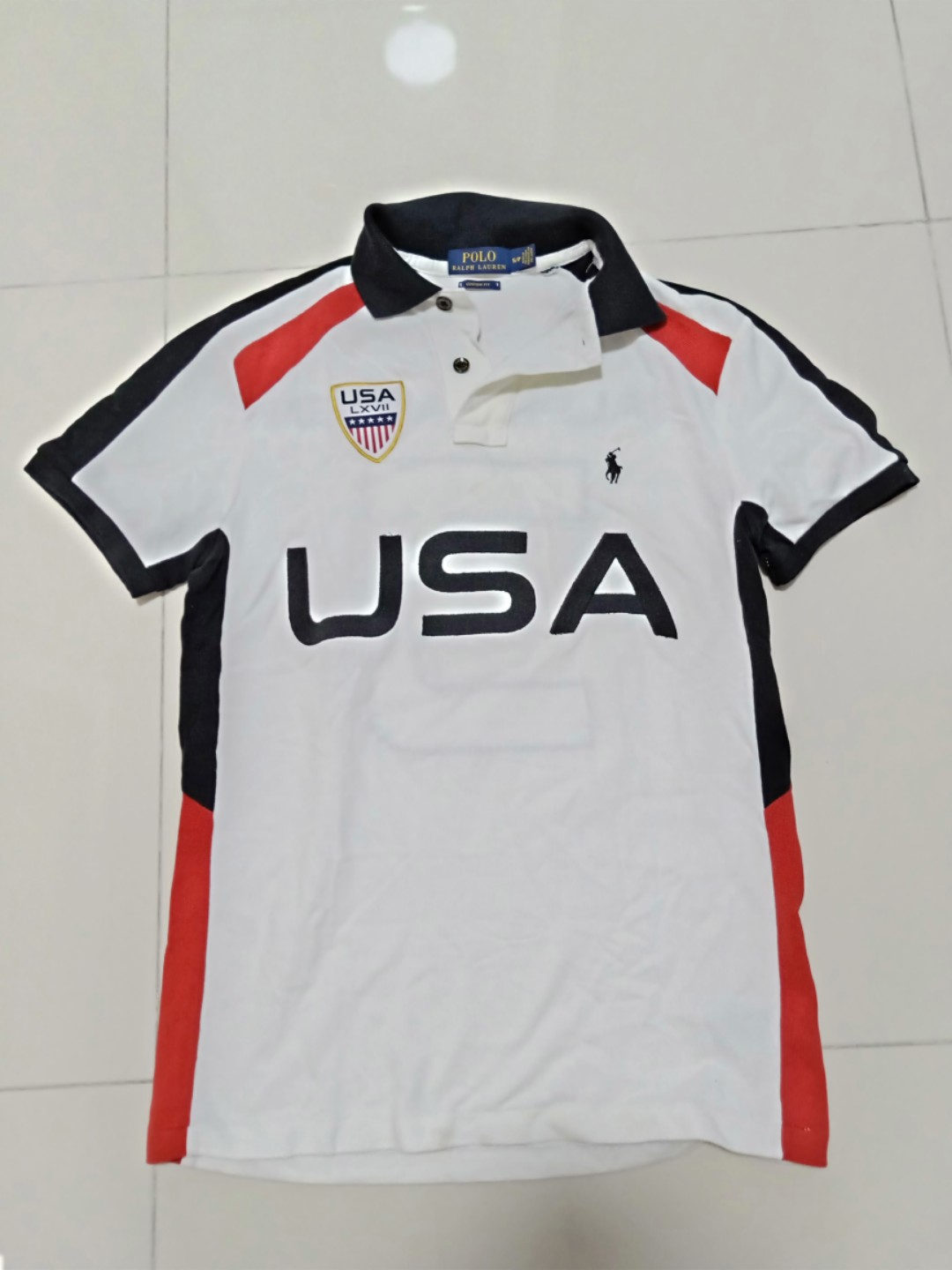 Lauren Rugby Polo Ralph Mens Usa Shirt Iyvfb76Ygm