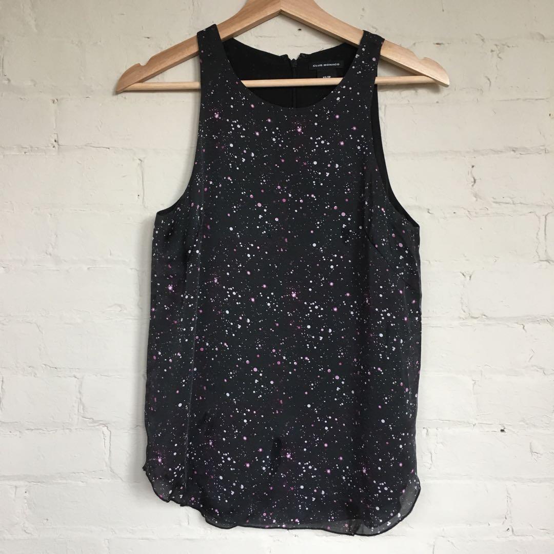 Silk Club Monaco galaxy blouse