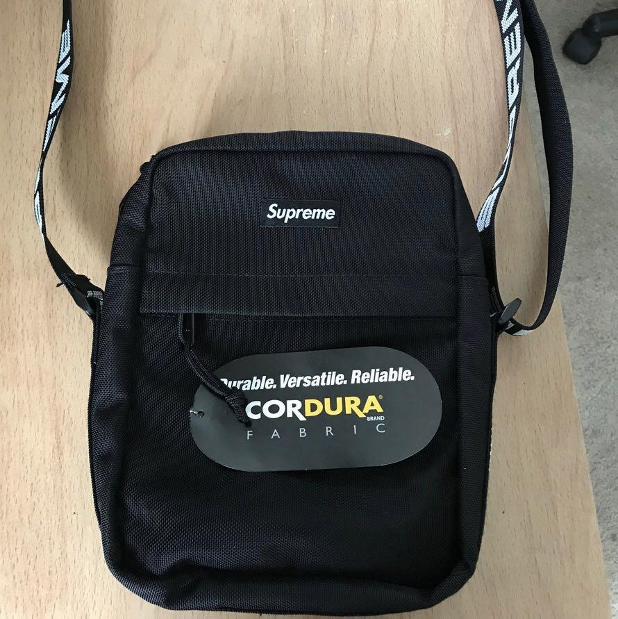 49fda63e110 Supreme SS18 Black Shoulder bag, Men's Fashion, Bags & Wallets ...