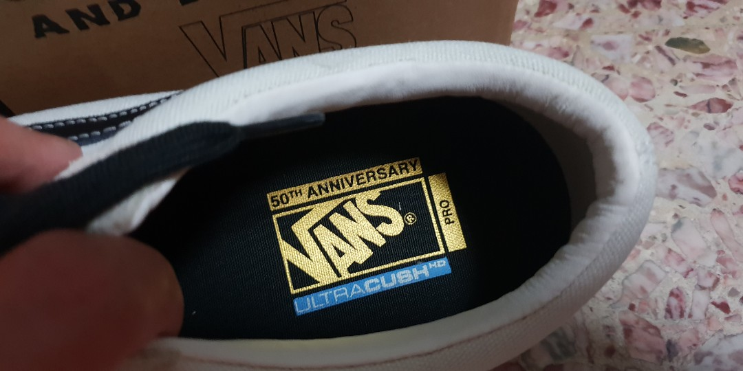 a97a05d50f02be Vans Old Skool Pro 50th Anniversary White Black